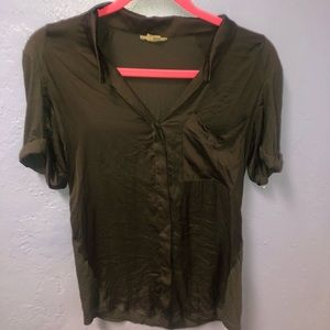 Helmet Lang black silk top